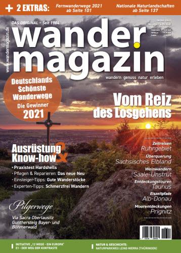 Cover: Wandermagazin No 212 Herbst 2021