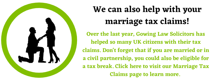 marriage tax claims assistance