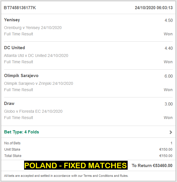 POLAND - FIXED MATCHES