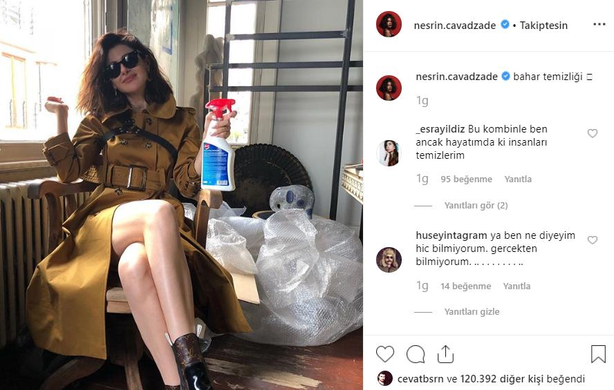 Nesrin Cavadzade Instagram paylaşımı