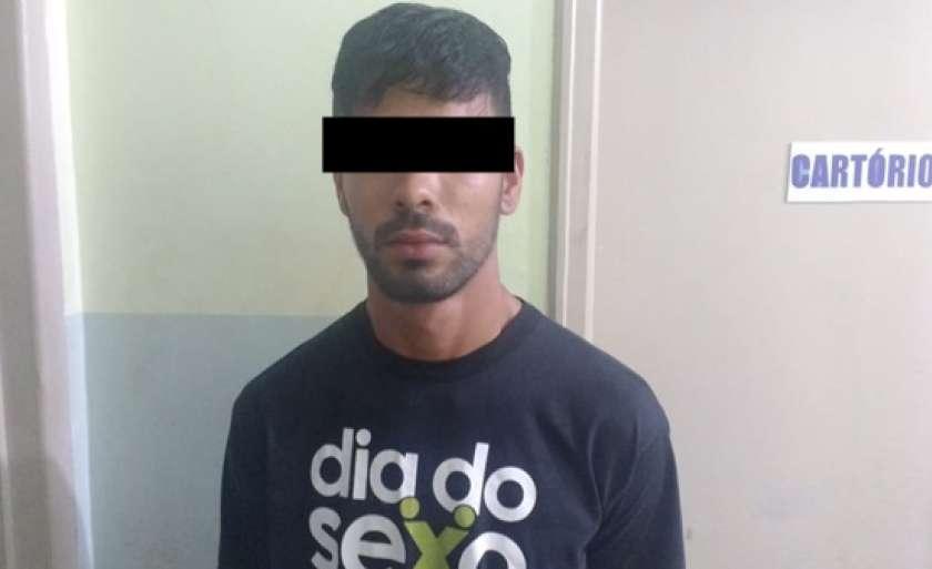 L.F.P.A, de 21 anos, foi preso em flagrante