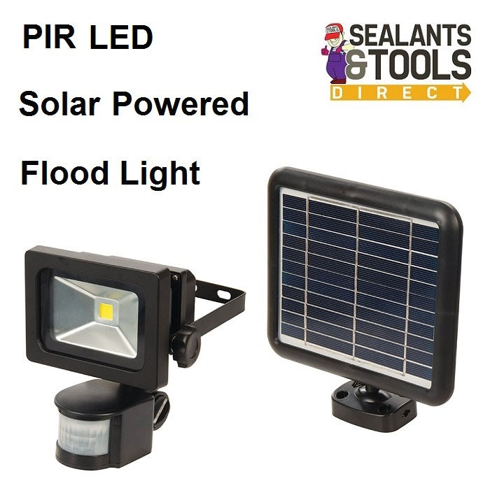 Silverline-657016-LED-Solar-Powered-PIR-Floodlight-Security-Light