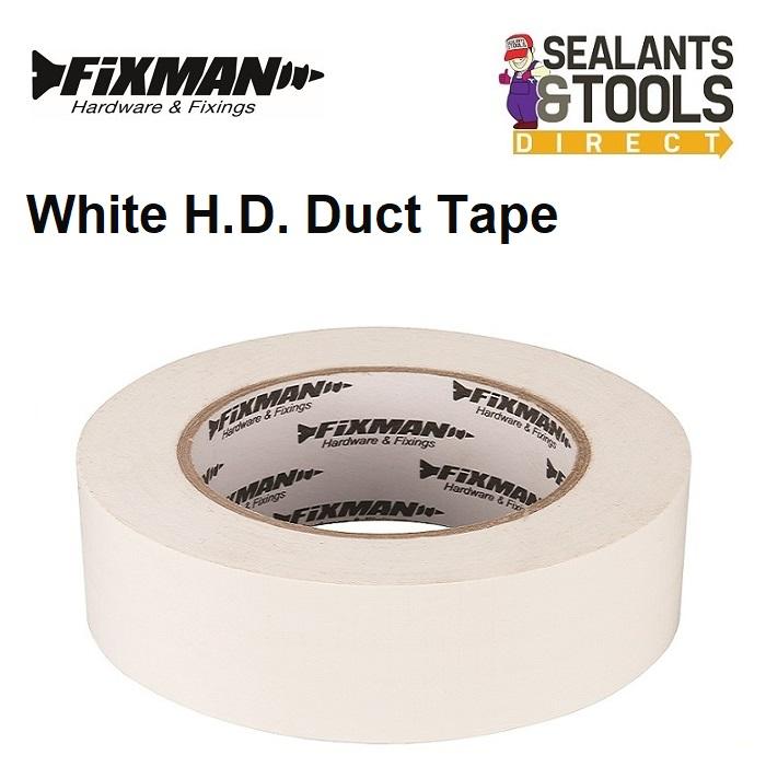 Fixman Super Heavy Duty Duct Tape 50mm White 190229