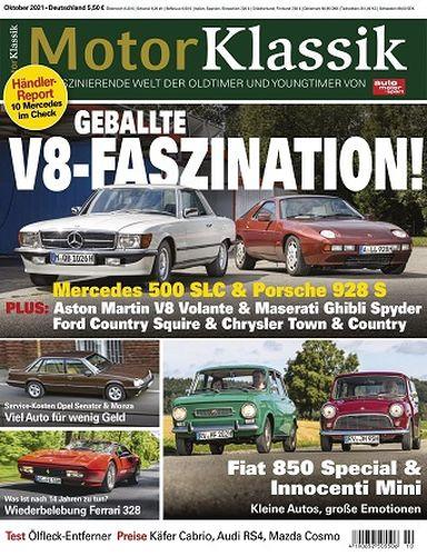 Cover: Auto Motor Sport Motor Klassik Magazin No 10 Oktober 2021