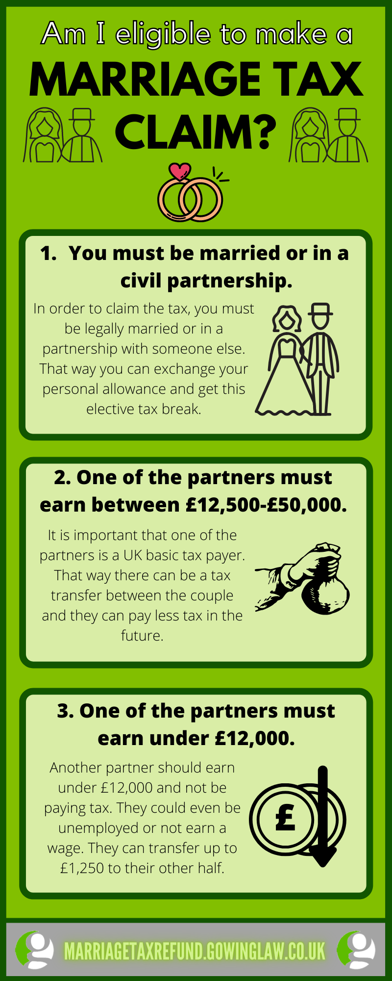 Marriage tax steps