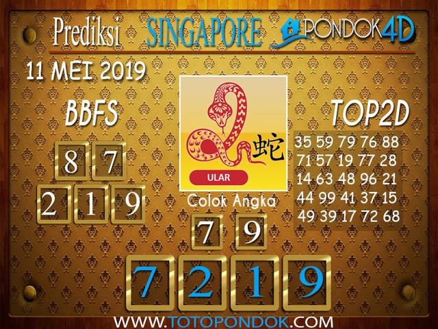 Prediksi Togel SINGAPORE PONDOK4D 11 MEI 2019