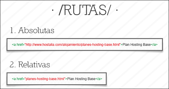 Example of relative path links in HTML.