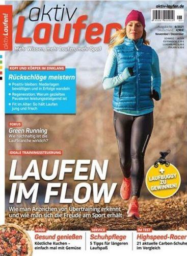 Cover: Aktiv Laufen Magazin November-Dezember No 06 2021