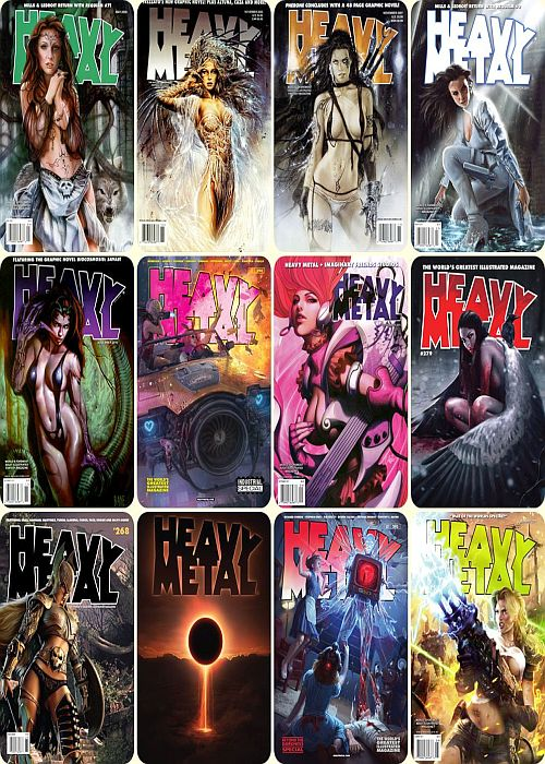 Heavy Metal Magazine - Cover Collection (1977-2019)