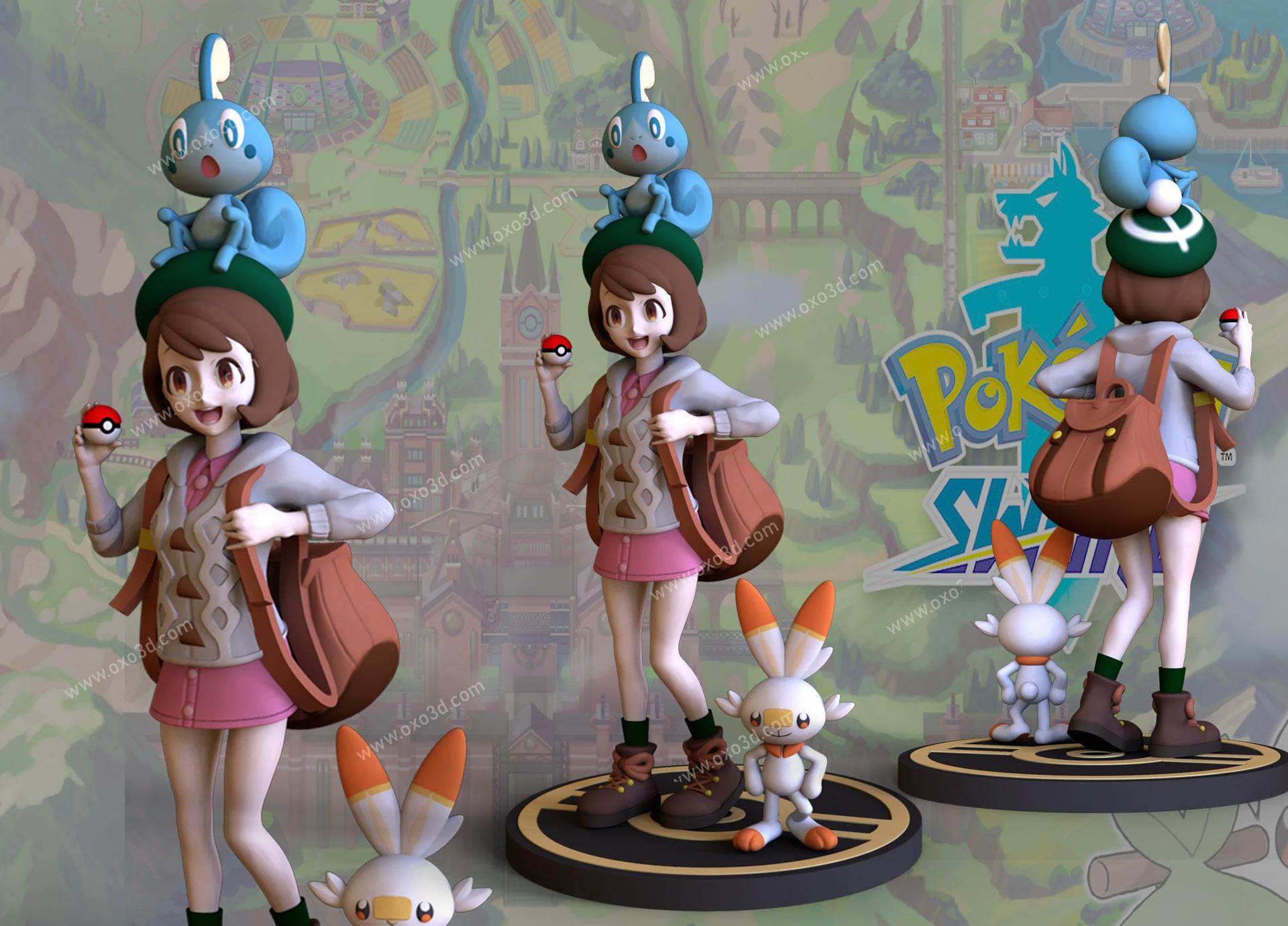 Gloria 3D Print STL - Pokémon