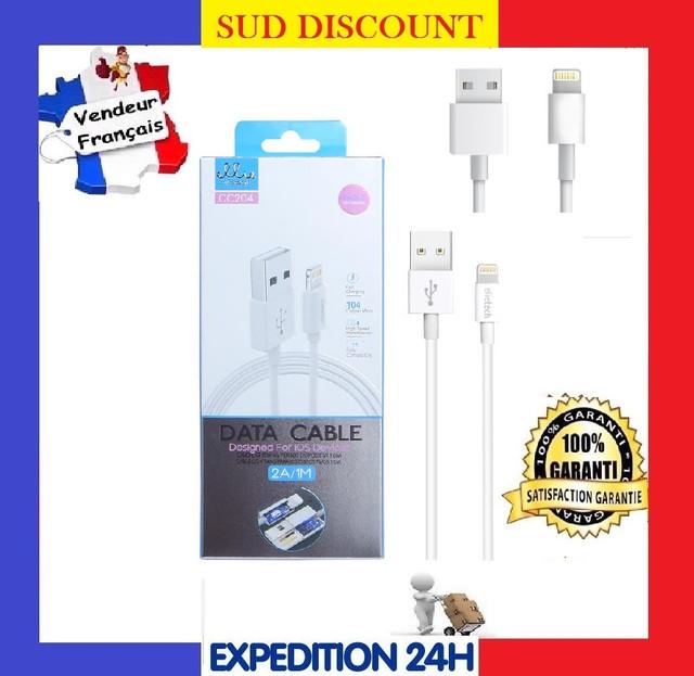 CABLE LIGHTNING POUR IPHONE USB CHARGEUR 5 6 6S 6 PLUS SE 7