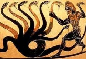 A Hidra de Lerna e Hércules