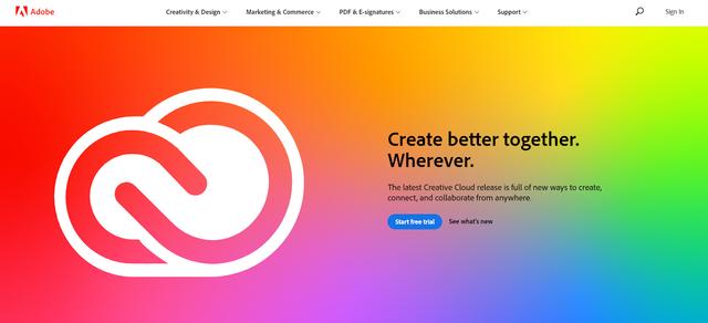 Adobe Homepage - Hotcopy