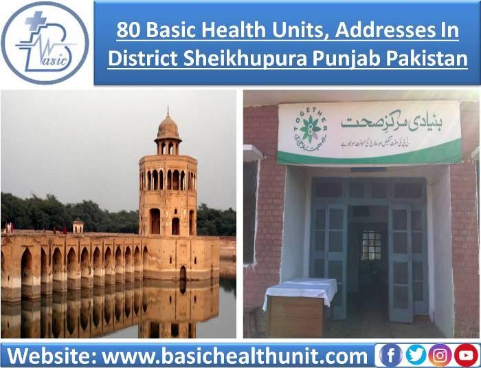 80 Basic Health Units And Address In District Sheikhupura Punjab Pakistan