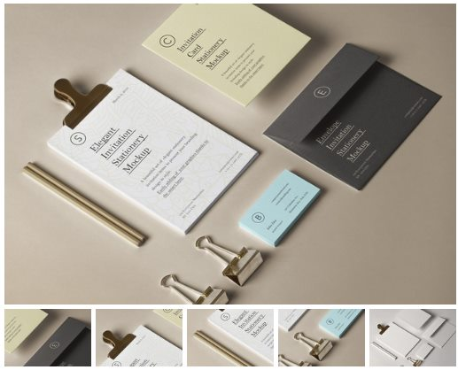 Elegant Invitation Stationery Mockup