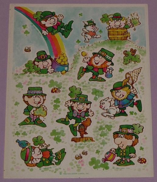 Patrick's Day Mint Condition!! Hallmark Vintage Stickers St
