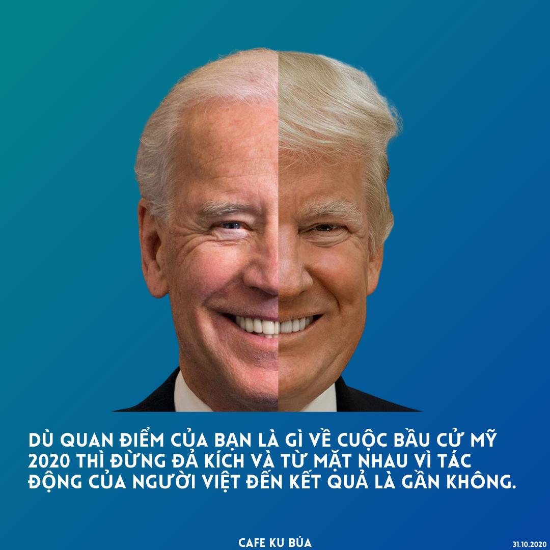 ỦNG HỘ BIDEN HAY TRUMP 2020