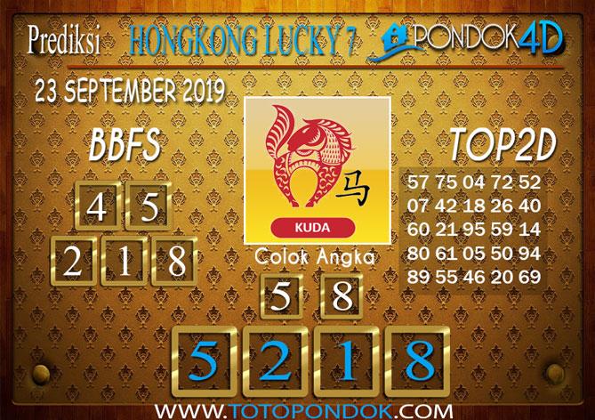 Prediksi Togel HONGKONG LUCKY 7 PONDOK4D 23 SEPTEMBER 2019