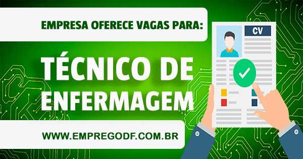 EMPREGO PARA TÉCNICO DE ENFERMAGEM