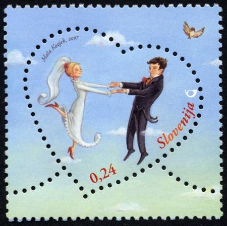 Slovenia stamps LOVE-LJUBEZENSKA-2007