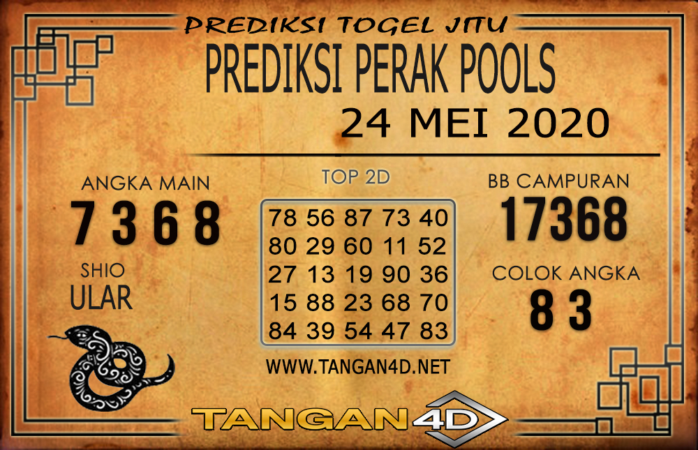 PREDIKSI TOGEL PERAK TANGAN4D 24 MEI 2020