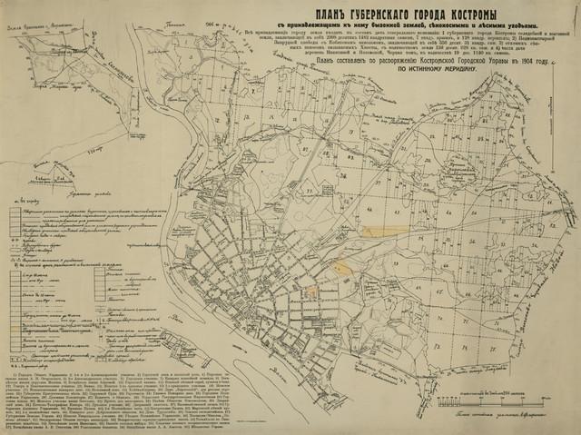 План г. Костромы 1904 г.