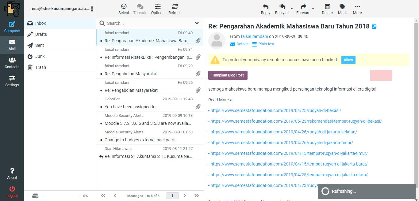 Webmail STIE Kusuma Negara