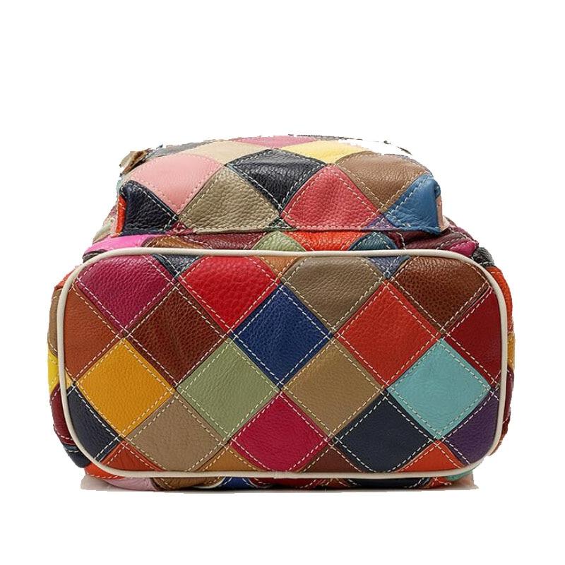 0-San-Maries-New-Women-Genuine-Leather-Backpack-Cowhide-Leather-Casual-Bag-Flower-Patchwork-School-B