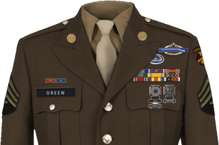 Advanced Infantry Training (AIT) Awards T4-green