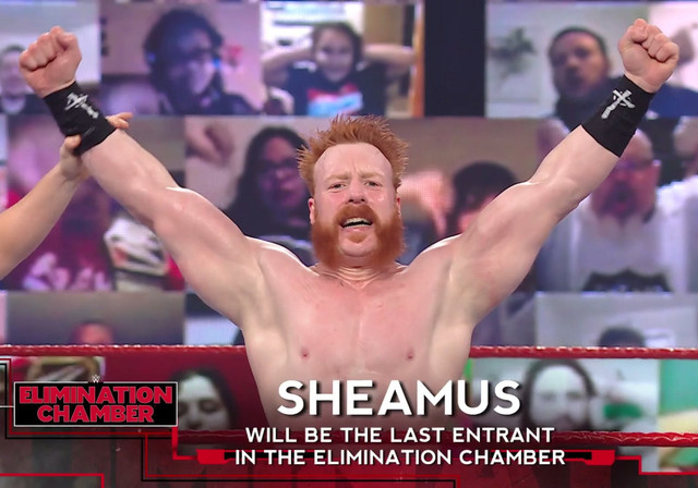 Sheamus es el ultimo en salir Elimination Chamber 2021 RAW 15 Febe
