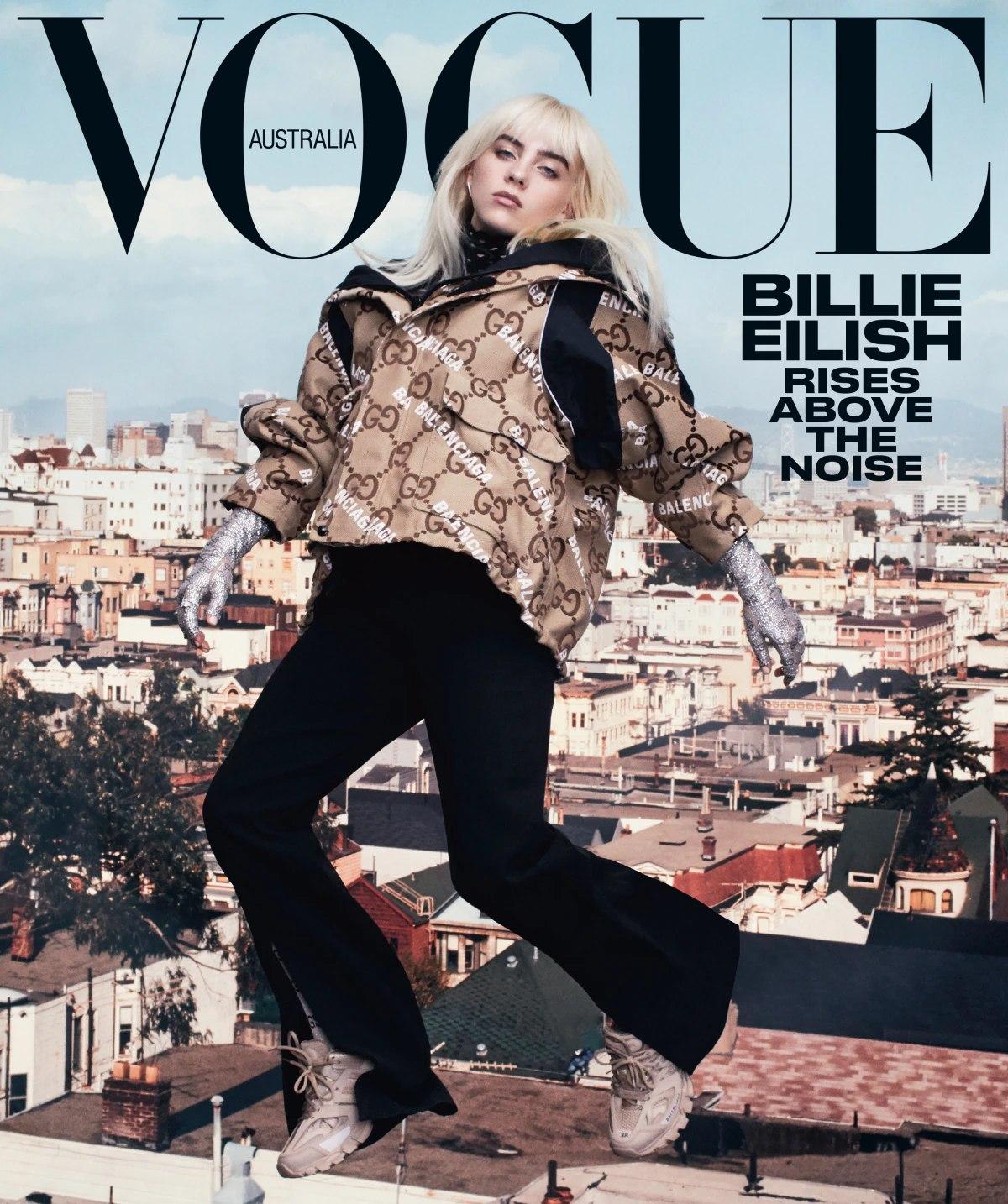 Billie Eilish sulla cover di Vogue Australia