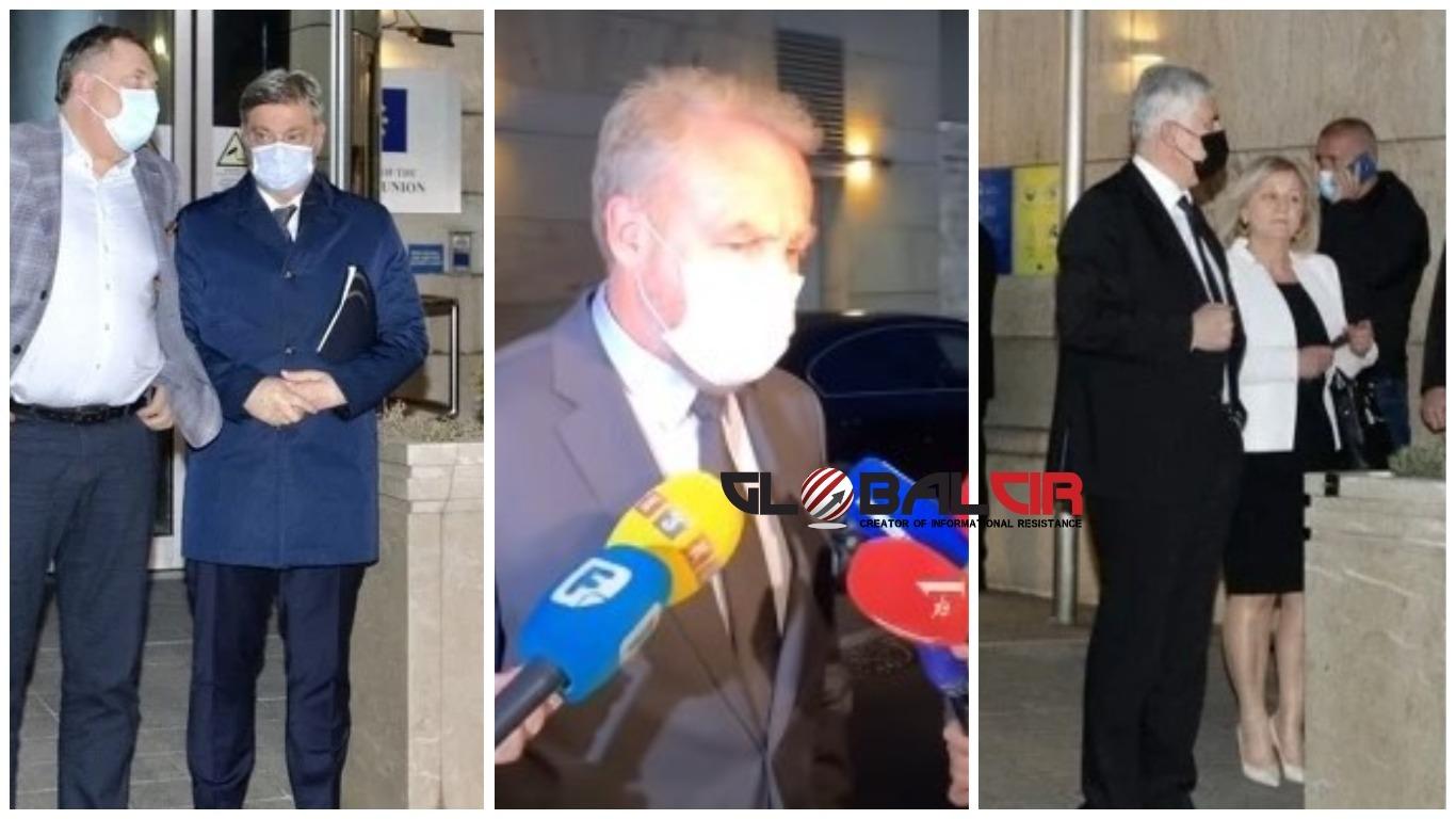 IZETBEGOVIĆ NAKON IZNENADNOG SASTANKA U ZGRADI DELEGACIJE EU U SARAJEVU: 'Razgovarali smo o starim temama, dva ambasadora nam pokušavaju pomoći da se napravi bolja atmosfera'