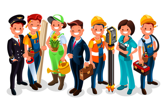 Labor-Day-Vector-worker-group-each-person-wearing-job-uniform-of-a-specific-profession-or-occupation