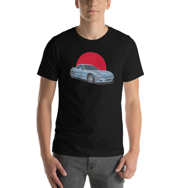 Prescription-RX7-shirt-Clipped-THE-M-robot-backplate-wht-OUT-mockup-Front-Mens-Black