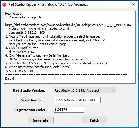 Keygen - RadStudioKeygen10 3 1 Architect | Board4All