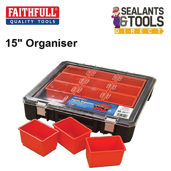 Faithfull Pro 12 Large Compartment Organiser FAITBORG15