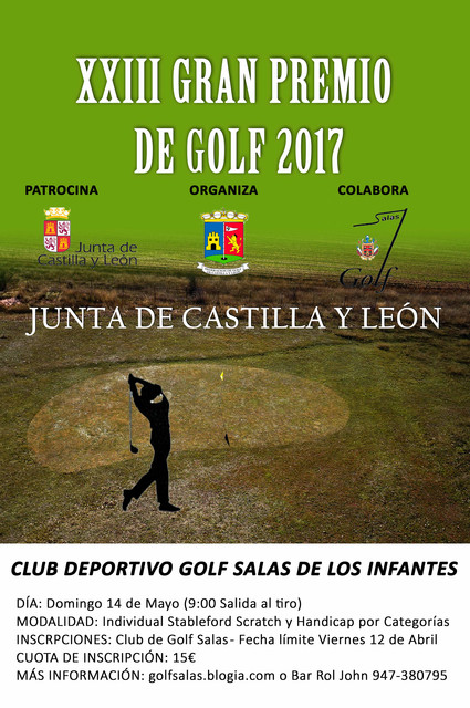 Cartel GPjcyl golf 2017 Mayo