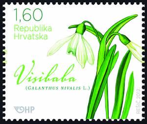 2012. year HRVATSKA-FLORA-PROLJETNICE-VISIBABA