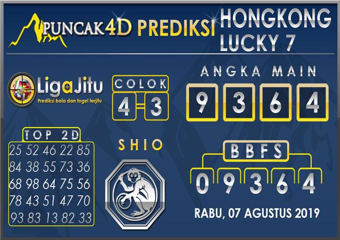 PREDIKSI TOGEL HONGKONG LUCKY7 PUNCAK4D 07 AGUSTUS 2019