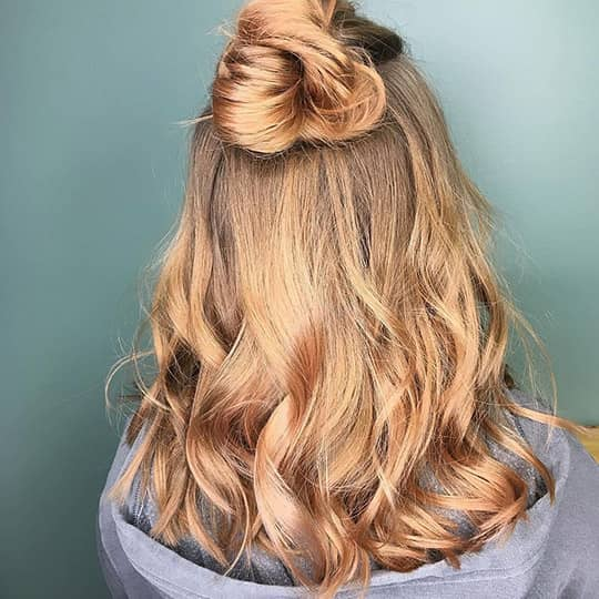 Light Strawberry Blonde-strawberry-styled-hair