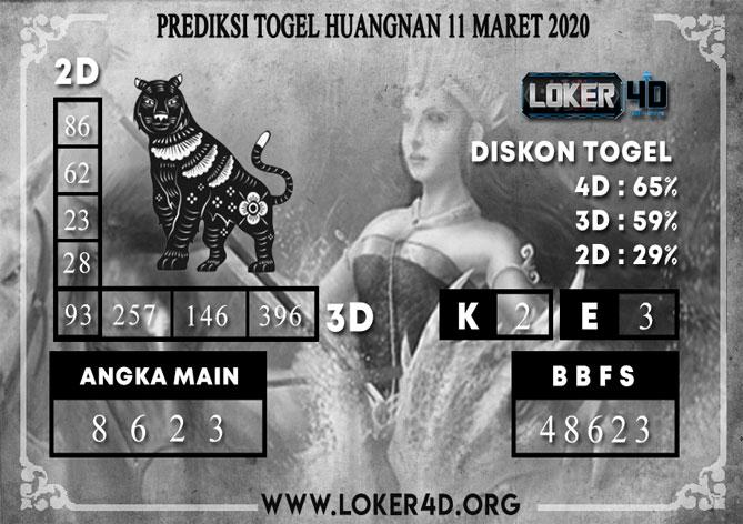 PREDIKSI TOGEL HUANGNAN LOKER4D 11 MARET 2020
