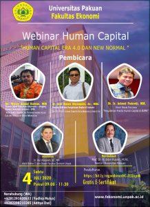 Universitas Pakuan Adakan Webinar Human Capital Lewat Zoom