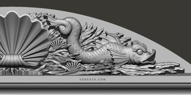 Fish 3D relief