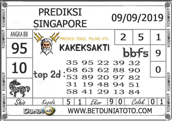 """Prediksi Togel """"SINGAPORE"""" DUNIA4D 09 SEPTEMBER 2019"""