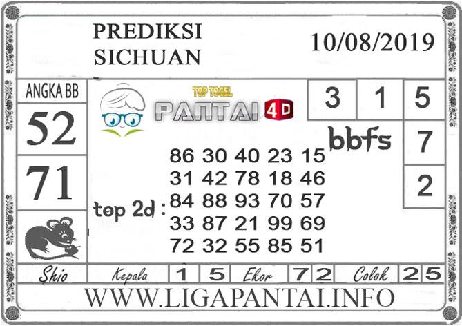 "PREDIKSI TOGEL ""SICHUAN"" PANTAI4D 10 AGUSTUS 2019"