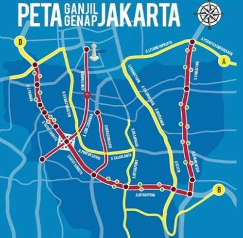 Peta-Ganjil-Genap-2019