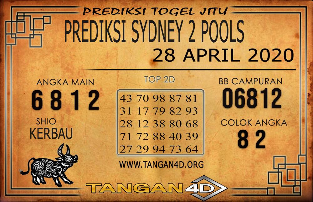 PREDIKSI TOGEL SYDNEY 2 TANGAN4D 28 APRIL 2020