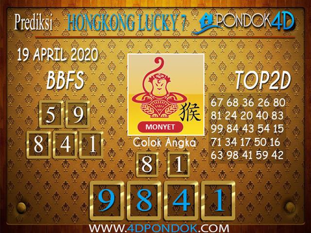 Prediksi Togel HONGKONG LUCKY 7 PONDOK4D 19 APRIL 2020