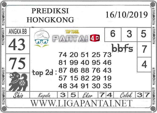 """PREDIKSI TOGEL """"HONGKONG"""" PANTAI4D 16 OKTOBER 2019"""