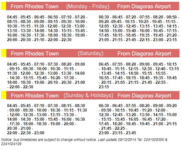 Rhodes Airport Bus